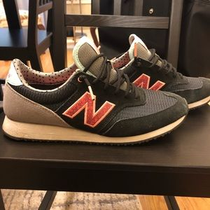 New Balance tennis shoes (black and coral)